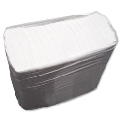 """GCN 1/6-fold Tall Paper Napkins - 1 Ply - 7"""" x 13.50"""" - White - For Restaurant - 10000 / Carton"""