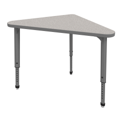 Marco Group Apex™ Series Adjustable Triangle Student Desk, Gray Nebula/Gray