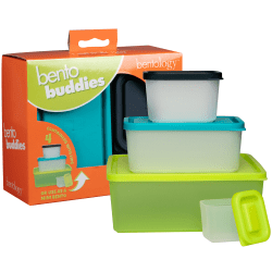 Bentology Bento Buddies Lunch Box Set, Assorted Colors