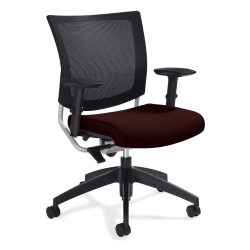 "Global® Graphic Mesh-Back Task Chair, 36""H x 25""W x 24""D, Cabernet"