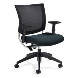 "Global® Graphic Mesh-Back Task Chair, 36""H x 25""W x 24""D, Sapphire"