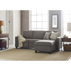 Serta® Palisades Reclining Sectional With Storage Chaise, Right, Gray/Espresso