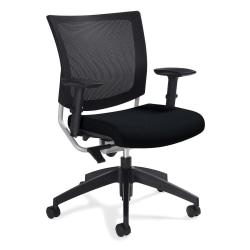 "Global® Graphic Mesh-Back Task Chair, 36""H x 25""W x 24""D, Black"
