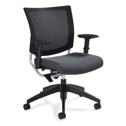 "Global® Graphic Mesh-Back Task Chair, 36""H x 25""W x 24""D, Graphite"
