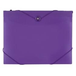 "Office Depot® Brand Poly 7-Pocket Hanging File, 8"" Expansion, Letter Size, 9-5/8"" x 13"", Purple"