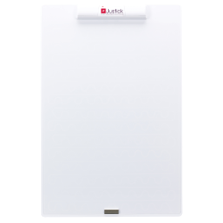 "Smead® Justick Dry-Erase Mini Whiteboard With Clear Overlay, Aluminum, 24"" x 16"", White, Frameless"