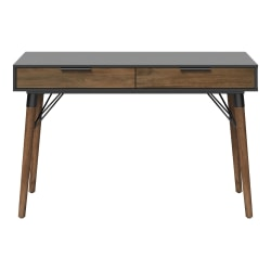"Elle Décor® Dani 47""W Writing Desk, Old World Rustic Pine/Dusk Gray"