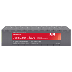 """Office Depot® Brand Transparent Tape, 1"""" x 2,592"""", Clear, Pack Of 12"""