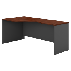 "Bush Business Furniture Components Corner Desk Left Handed 72""W, Hansen Cherry/Graphite Gray, Standard Delivery"