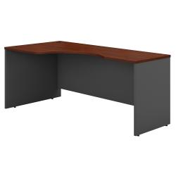 "Bush Business Furniture Components Corner Desk Left Handed 72""W, Hansen Cherry/Graphite Gray, Standard Delivery"