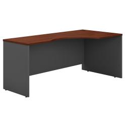 "Bush Business Furniture Components Corner Desk Right Handed 72""W, Hansen Cherry/Graphite Gray, Standard Delivery"