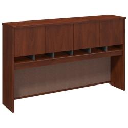 "Bush Business Furniture Components 4 Door Hutch, 72""W, Hansen Cherry/Graphite Gray, Standard Delivery"