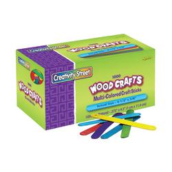 "Creativity Street Wood Crafts Regular Craft Sticks, 4 1/2"" x 3/8"" x 2mm, Color, Box Of 1,000"