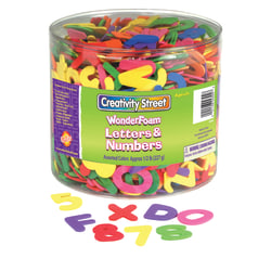 Creativity Street Foam Letters & Numbers, Pack Of 18, Assorted Colors