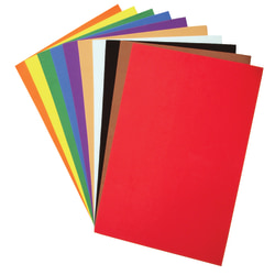 """Creativity Street Foam Sheets, 12"""" x 18"""", Pack Of 10, Assorted Colors"""