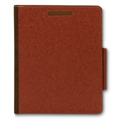 [IN]PLACE® Classification Folders, Letter, 2 Dividers, 30% Recycled,  Earth Red, Box Of 10 Folders