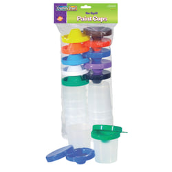 Chenille Kraft Creativity Street No-Spill Paint Cups, Assorted Colors, Pack Of 10