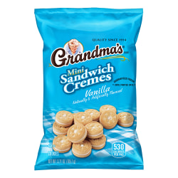 Grandma's Vanilla Mini Sandwich Crèmes, 3.71 Oz Bag, Box Of 24 Bags