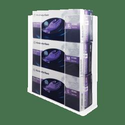 "Kantek Acrylic Glove Box Holder, Triple, 11"" x 3 1/2"" x 14 1/2"", Clear"