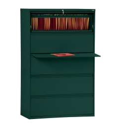 """Sandusky® 800 36""""W Lateral 5-Drawer File Cabinet, Metal, Forest Green"""