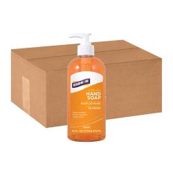 Genuine Joe Liquid Hand Soap - 16 fl oz (473.2 mL) - Pump Bottle Dispenser - Hand - Orange - Bio-based, pH Balanced - 12 / Carton