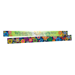 """Barker Creek Double-Sided Border Strips, 3"""" x 35"""", Italy Fiori Bellissimi, Set Of 24"""
