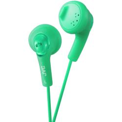 JVC Gumy HA-F160 Earphone - Stereo - Green - Mini-phone - Wired - 16 Ohm - 15 Hz 20 kHz - Earbud - Binaural - Outer-ear - 3.28 ft Cable