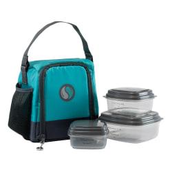 Fit & Fresh Meal Management Smart Portions Lunch Bag Set, Teal