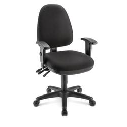 WorkPro® Patriot Multifunction Ergonomic Fabric Task Chair, Black
