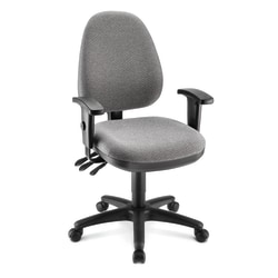 WorkPro® Patriot Multifunction Fabric Task Chair, Gray/Black