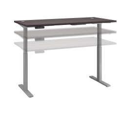 """Bush Business Furniture Move 60 Series 72""""W x 30""""D Height Adjustable Standing Desk, Storm Gray/Cool Gray Metallic, Standard Delivery"""