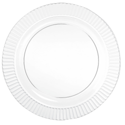 "Amscan Clear Plastic Plates, 10-1/4"", Pack Of 16 Plates"