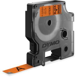 """Dymo D1 Durable Labels - 1/2"""" Width x 10 ft Length - Black, Orange - 1 Each"""