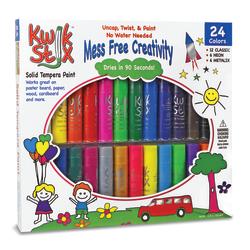 The Pencil Grip Kwik Stix Solid Tempera Paint Sticks, 10.35 mL, Assorted Colors, Set Of 24 Sticks