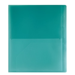 Office Depot® Brand 14-Pocket Poly Folder, Teal