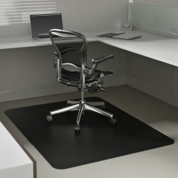 """Deflect-O® Chair Mat For Low-Pile Carpets, For Commercial-Grade Carpeting, 46""""W x 60""""D, Black"""