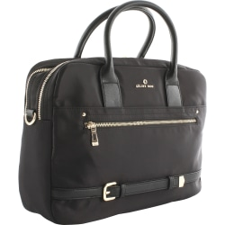 "Celine Dion Carrying Case (Briefcase) Travel Essential - Black, Gold - Nylon - Shoulder Strap, Belt - 10"" Height x 3"" Width x 14"" Depth - 1 Pack"