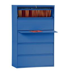 "Sandusky® 800 42""W Lateral 5-Drawer File Cabinet, Metal, Blue"