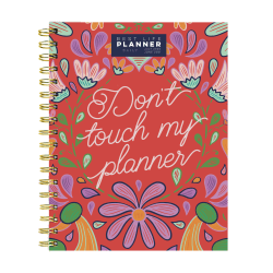"TF Publishing Academic Year Daily/Monthly Luxe Planner, 7"" x 9"", Don't Touch, July 2020 To June 2021"