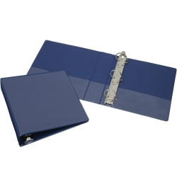 "Slant D-Ring View Binders, 2"" Rings, Blue (AbilityOne 7510-01-417-1884)"