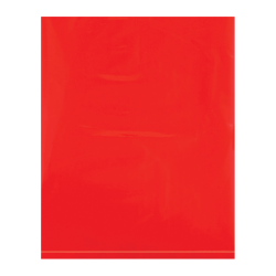 """Office Depot® Brand Flat 2-Mil Poly Bags, 8"""" x 10"""", Red, Case Of 1,000"""
