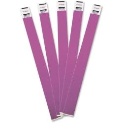 "Advantus Tyvek® Wristbands, AVT75440, 3/4""W x 10""L, Rectangle, Purple, Tyvek, Pack Of 100"