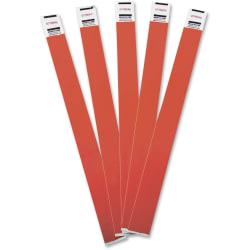 """Advantus Tyvek® Wristbands, AVT75441, 3/4""""W x 10""""L, Rectangle, Red, Tyvek, Pack Of 100"""
