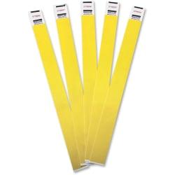 Advantus Tyvek® Wristbands, AVT75444, Yellow, Tyvek, Pack Of 100