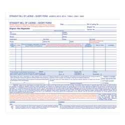 """Adams® Bill Of Lading Forms, 7 5/8"""" x 11"""", 3-Part, Pack Of 250"""