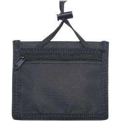 Advantus Horizontal ID/Convention Neck Pouch - Horizontal - Nylon - 12 / Pack - Black