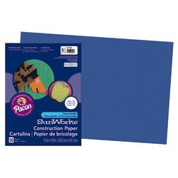 "SunWorks® Construction Paper, 12"" x 18"", Dark Blue, Pack Of 50"