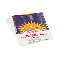 """Pacon® SunWorks® Construction Paper, 9"""" x 12"""", Bright White, 50 sheets"""