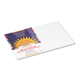 """Pacon® SunWorks Groundwood Construction Paper, 18"""" x 12"""", Bright White, Pack Of 50 Sheets"""