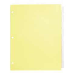 """Office Depot® Brand Insertable Dividers With Tabs, 8 1/2"""" x 11"""", Clear, 8-Tab, Pack Of 4 Sets"""